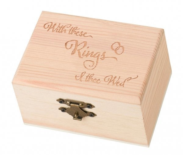 With These Rings I Thee Wed Wooden Ring Box