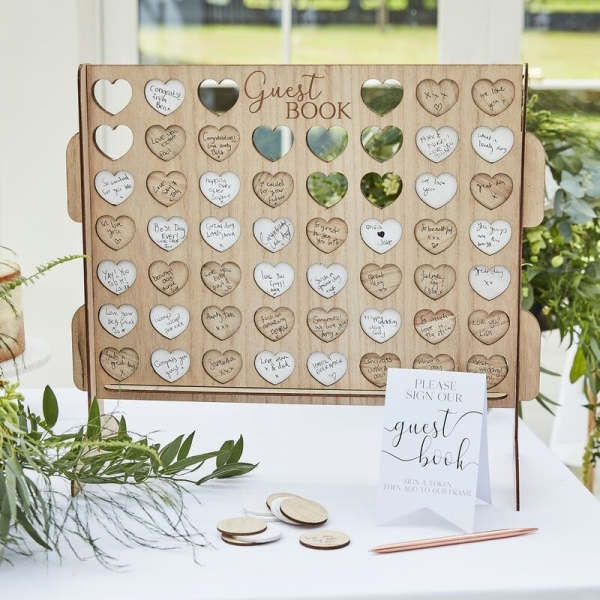 4 In A Row Wedding Guest Book Alternative