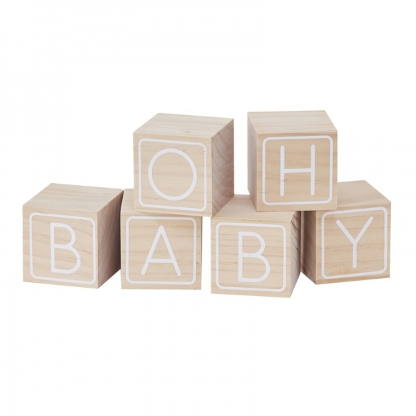 Oh Baby - Baby Shower Building Blocks Guest Book Alternative