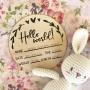 """""""Hello World"""" Baby Birth Announcement Wooden Plaque"""