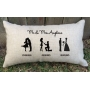 Silhouette Timeline Couples Wedding Cushion - Gift