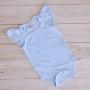Baby Blue Short Sleeve Flutter Onesie