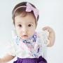 Baby Pink & White Polka Dot Sailor Bow Headband or Clip
