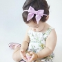 Baby Pink & White Polka Dot Sailor Bow Headband or Clip