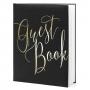 Black & Gold Foil Portrait Style Guest Book