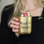 Metallic Black & Gold Maid Of Honor Stubby Cooler