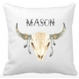 Personalised Boys TRIBAL Skeleton Colour Pillow