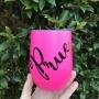 Bright Pink Personalised Tumbler - 12oz