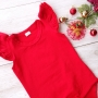 Red Short Sleeve Flutter Onesie