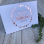 Circular Heart Wreath Personalised Wedding Guest Book