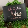 Classic Personalised Metallic Foil Wedding Guest Book