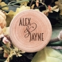 Couples First Names Personalised Wooden Ring Box