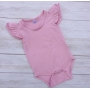 Dusty Pink Short Sleeve Flutter Onesie