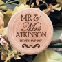 Fancy Mr & Mrs Personalised Wooden Wedding Ring Box