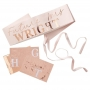 Personalised Rose Gold Hens Party Bride To Be Sash