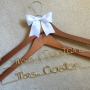 Set of 2 Same Sex Personalised Wedding Coat Hangers