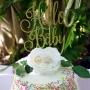 "Glitter ""Hello Baby"" Cake Topper"