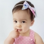 Hawaiian Floral Baby Bow Headband or Clip