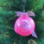 Personalised Glittered Ballerina Christmas Baubles