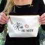Kiss And Makeup Cosmetic Bag - Bride Gift