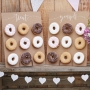 Rustic Wooden Donut Wall Boards - Cake Alternative
