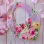 Lavender Floral Fabric Baby Girls Handmade Bib