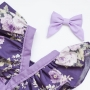 Lavender Purple Baby Bow Headband or Clip