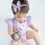 Lavender Short Sleeve Flutter Onesie