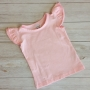 Light Pink Short Sleeve Flutter Onesie & Top
