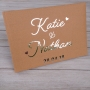 Love Heart Personalised Wedding Guest Book
