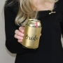 Metallic Black & Gold Bride Stubby Cooler