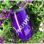 Metallic Purple Personalised Tumbler - 12oz