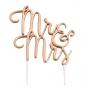 Metallic Gold Mr & Mrs Wedding Cake Pick Topper