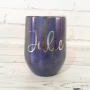 Midnight Shimmer Personalised Tumbler - 12oz