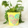 Happy Mother's Day Metal Pot Plant