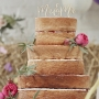 Wooden Boho Mr & Mr Cake Pick Topper