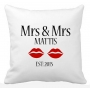 Mrs & Mrs Same Sex Couple Wedding Pillow