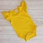 Mustard Short Sleeve Flutter Onesie