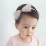 Pastel Pink & Gold Sparkle Star Tulle Girls Headband or Clip