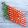Personalised Easter Carrot Bubble Wands