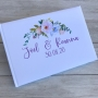 Personalised Lilac, Pink & Blue Floral Wedding Guest Book