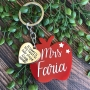 Personalised Apple Keyring Teacher Gift