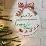 Personalised Santa Please Stop Here Hanging Plaque
