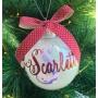 Scripted Monogram Personalised Christmas Bauble
