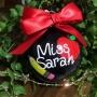 Personalised Teachers Christmas Bauble Gift