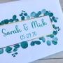 Personalised Greenery Wedding Guest Book