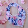 Pink & Blue Hot Air Balloon Handmade Fabric Baby Girls Bib