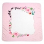 """Watch Me Grow"" Pink Floral Milestone Baby Photo Blanket & Card Set"