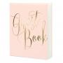 Pale Pink & Gold Foil Portrait Style Guest Book