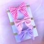 Pack of 3 Pretty Baby Bow Headbands - Handmade